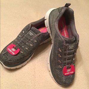 Skechers Memory Foam Gray Sneakers